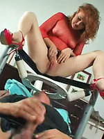 Lucy sits on...